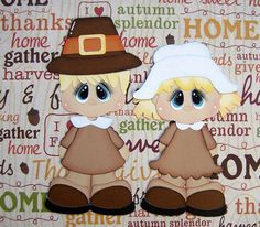 Thanksgiving  Paper Piecing Set Scrapbooks by scrappinwithmom, $7.99