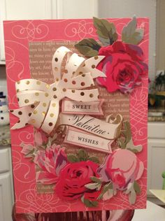 Valentine card by Elaine Kemperas
