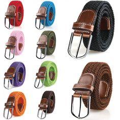 2016 Women Handwork  Elastic Braid Belt Polyester Leather Buckle Belt Female Lose Weight Waist Braided Belt -MX8