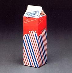 """""""Vintage milk packaging"""", early 1980s packaging design."""