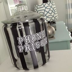 Phone prison - a must when teaching teenagers!