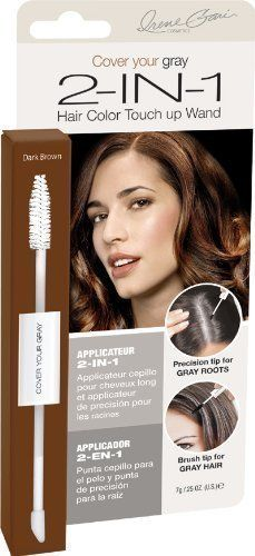 Cover Your Gray 2-In-1 Hair Color Touch-Up Wand Dark Brown by Fiske Industries -- See this great product.