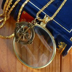Steampunk Goggles magnifying lens glass by oldjunkyardboutique, $12.99
