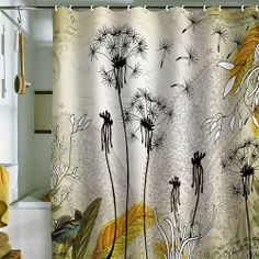 Bathroom Beautiful Shower Curtains Modern Designs With White Silk Cloth Also Gorgeous Coconut Tree Screen Painting And Golden Palm Leaf Style Awesome