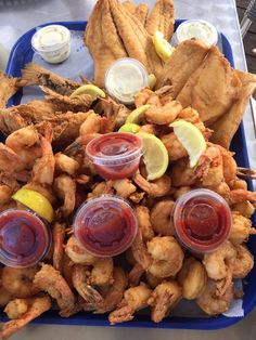 Photo of Safe Harbor Seafood Market and Restaurant - Jacksonville, FL, United States. So we have here shrimp, basa fish (white meaty fish)...& one other I can't recall.