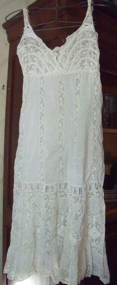 antique French handmade night dress