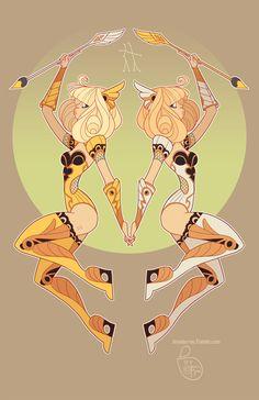 Character design - gemini by meomai on deviantart zodiac Character Concept, Character Art, Evvi Art, Gemini Art, Gemini Zodiac, Aquarius, Zodiac Characters, Zodiac Art, Animation