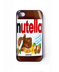 nutella iphone iPhone 5 case, iPhone 5 cover. $15.65, via Etsy. want!!!