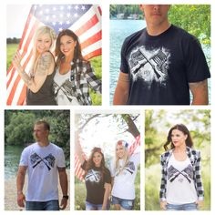 American made clothing | American flag | guns | Fourth of July | Independence Day | 3SN | red white and blue | merica | americana | 4th of July | USA | 3 stars north | summer