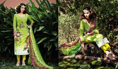 JINAAM ESTIVAL Digitally Printed Lawn Cotton Embroidery with Chiffon duppata