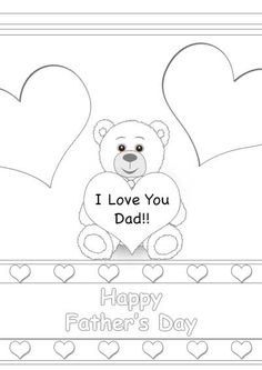 Free Printable Father's Day Color Cards - my-free-printable-cards.com