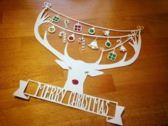 Christmas Reindeer paper cut template  COMMERCIAL by HRHandmade