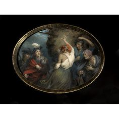 Macbeth Saluted by the Witches (Portrait miniature)