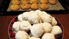 ΚΟΥΡΑΜΠΙΕΔΕΣ ΑΦΡΑΤΟΙ ΜΕ ΕΝΑ...ΜΥΣΤΙΚΟ!!! Greek Desserts, Pastry Art, Cake Cookies, Holiday Recipes, Food Processor Recipes, Muffin, Sweet Home, Sweets, Bread
