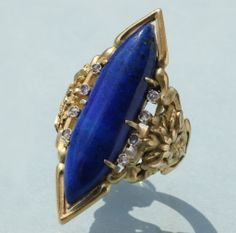 LOUIS WIÈSE Art Nouveau Cornflower Ring | From a unique collection of vintage more rings at http://www.1stdibs.com/jewelry/rings/more-rings/