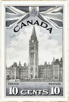 Canada Stamp - Parliament Buildings with Union Jack, Canadian issued in Hedwig Harry Potter, Canadian Coins, Canadian History, Union Jack, Vancouver Island, Swedish Fire Log, Fun Facts About Canada, Canadian Tattoo, Poster