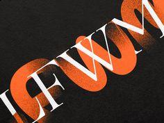 Graphic identity for London Fashion Week Men's by Pentagram