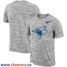 Toronto Blue Jays Nike Heathered Black Sideline Legend Velocity Travel  Performance T-Shirt 83cbe3d47