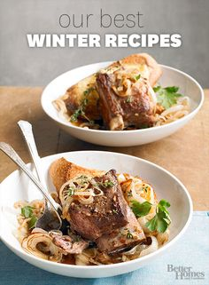 We have compiled our top-rated recipes for the winter months. Enjoy all of our best-ever winter recipes and discover which one is your favorite: http://www.bhg.com/recipes/from-better-homes-and-gardens/our-favorite-better-homes-and-gardens-winter-recipes/?socsrc=bhgpinwinterrecipes&page=1