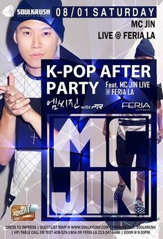 엘에이 Here We Go D-Day! 케이콘 위켄드 + 에프터 파티 x #소울크러쉬 - 8/1 SAT #KPOP AFTER PARTY FEAT. MC Jin(엠씨 진) LIVE @ #Feria #LA! FREE B4 1030 Entry (1030전 무료입장) Signup (신청) @ http://eepurl.com/tvF1r or www.soulkrush.com   VIP/Table RSVP 408-529-1804 + After Hour from 230AM After Hour Party @ Couture Hollywood LA  Soul Krush LA/SF/Seoul / www.soulkrush.com / www.fb.com/soulkrush  #MCJin #SoulKrush #LA #Feria #FeriaLA #Ktown #LIVE #HIPHOP #EDM #Party #Nightlife #LosAngeles #Kpop #유학생 #파티 #케이타운 #엘에이…