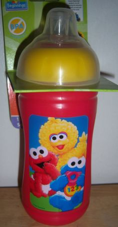 Bought this for my grandson and had to go back and get several more, his fav. sippy cups...easy to drink out of. -Sesame Street Beginnings 11oz Soft Spout Cup Cookie Monster Elmo Big Bird |