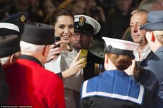 Selfie time: The kind-hearted A-list actress made sure to get pictures with everyone on th...
