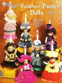 "Feather Duster Dolls>Use 14"" Feather Duster & Air Freshener Doll>Crochet Pattern"