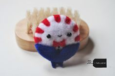 needle felted peppermint butler! by FluffyParcel
