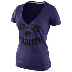Nike Kansas State Wildcats Ladies Tribute Short Sleeve Tee