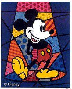 Romero Britto's Mickey!
