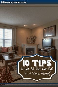 10 Tips To Help Sell Your Home Fast In A Down Market  http://www.biblemoneymatters.com/10-tips-to-help-sell-your-home-fast-in-a-down-market/