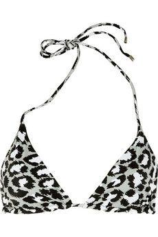 Diane von Furstenberg|Deianira animal-print triangle bikini top|NET-A-PORTER.COM - StyleSays