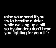 Raise our hand if you t to reathe quieter w ile walking u a hill so b standers on't hear you ighting for your life - iFunny :) Sarcastic Quotes, Me Quotes, Funny Quotes, Funny Memes, Hilarious, Jokes, It's Funny, Funny Gifs, Image Citation
