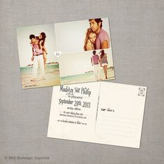 Vintage Save the Date Postcard  the Madelyn 1 by NostalgicImprints, $38.00