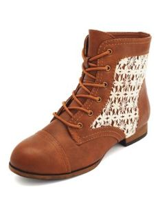 crochet inset lace-up bootie im gonna buy!