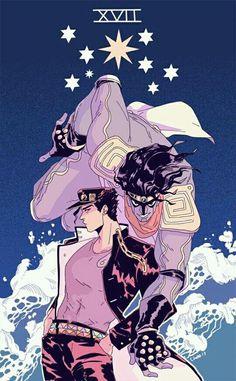 Jotarou Kuujou y Star Platinum (JoJo's Bizarre Adventure Part. 3)
