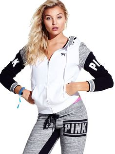 Black white and grey PINK sweat outfit Lazy Day Outfits, Sporty Outfits, Pink Outfits, Cute Outfits, Victoria Secret Outfits, Victoria Secret Rosa, Pink Love, Vs Pink, Perfect Pink