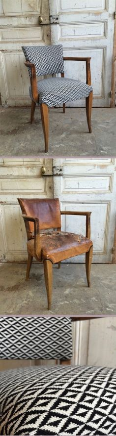 The workshop of the Marquise: Bridge Art Deco - Schönsten Deko-Ideen Art Deco Furniture, Vintage Furniture, Painted Furniture, Home Furniture, Diy Chair, Recycled Furniture, Take A Seat, Upholstered Chairs, Furniture Makeover