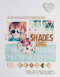#papercrafting #scrapbook #layout - Shades by Michelle Wedertz at @studio_calico