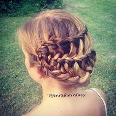 A ladder braid updo on my sister last week.