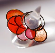 Kimono Reincarnate: Lately, in the Studio ::  Resin and Silver stacking rings