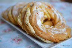 Paris - Brest si o crema pralinata - Lucky Cake Paris Brest, Bagel, Biscotti, Doughnut, Sausage, Bread, Desserts, Mascarpone, Tailgate Desserts