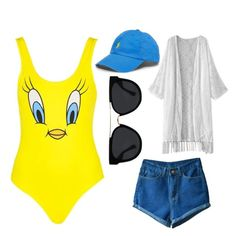 """""""Pool Time"""" by luvtheskittles on Polyvore featuring Polo Ralph Lauren, Topshop and Quay"""