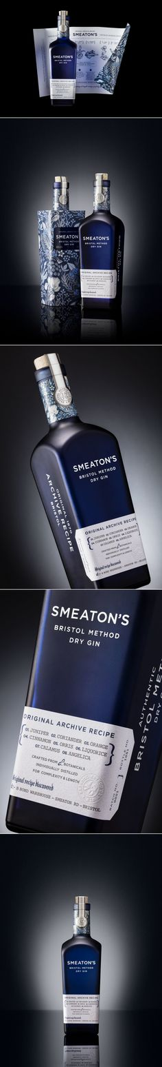 Smeaton's Dry Gin Comes With Beautiful Botanical Elements — The Dieline | Packaging & Branding Design & Innovation News