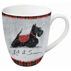 Table Decor - Scottie Dog Mug