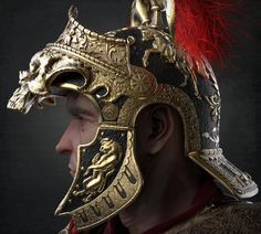 This piece is featured on the cover of Artist Magazine Issue Inspired by the legendary roman Centurion generals. Fantasy Armor, Medieval Fantasy, Ryse Son Of Rome, Old Warrior, Greek Warrior, Roman Centurion, The Centurions, Roman Helmet, Ancient Armor