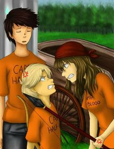 Percy Jackson, Michael Yew, and Clarisse la Rue. Percy looks so done with them. Tio Rick, Uncle Rick, Camp Jupiter, Will Solace, Team Leo, Percy And Annabeth, Trials Of Apollo, Leo Valdez, Rick Riordan Books