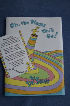 "Having my kids teachers sign ""Oh the Places You'll Go"", will give it to them at Graduation.  http://pinterest.com/pin/38843615506936138/ Wording: http://pinterest.com/pin/38843615506936138/"