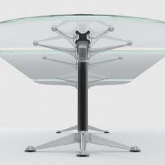 cgsputnik.com: 3d model Herman Miller glass table Burdick group 975