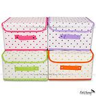 [Large] Bright Color Polka Dot Organizing Storage Box with Lid for Clothes
